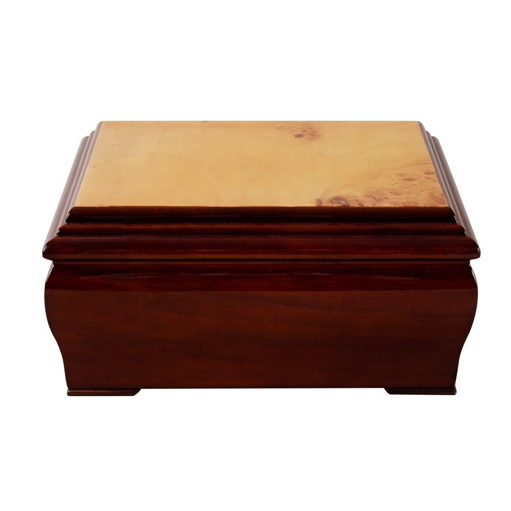 Personalisierte Umweltfreundliche Antike Glanz Lack Urnen Für Menschlichen Asche Und Beerdigung <span class=keywords><strong>Sarg</strong></span>