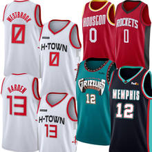 12 Ja Morant Jersey 0 Russell westbrook 13 James Harden Basketball Jersey Embroidery