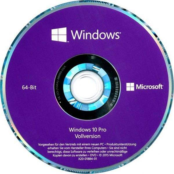Multi-language computer Windows 10 Pro 64 Bits DVD Win 10 Professional Computer Software System