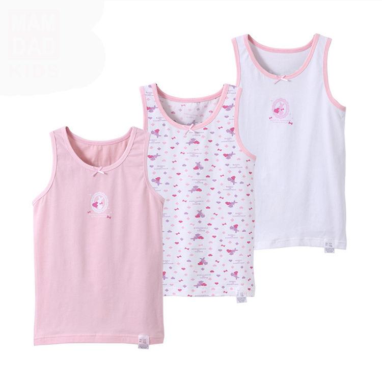 Детская летняя одежда, рубашки без рукавов, Детские майки для девочек