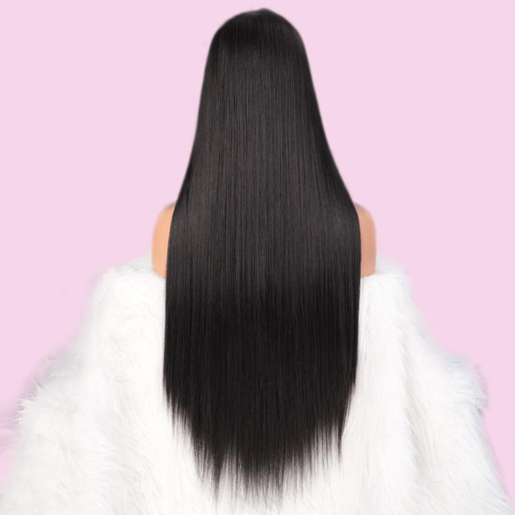 10a 13x4 frente de encaje recto pelucas de cabello humano con el pelo del bebé Pre arrancado nudos blanqueados