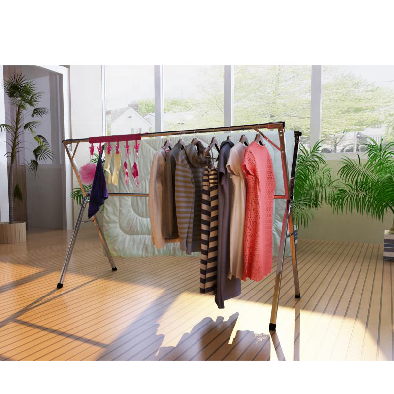 50m 2 Tier Pink Clothes Horse Cloth Aluminium Drying Rack Airer Indoor Outdoor