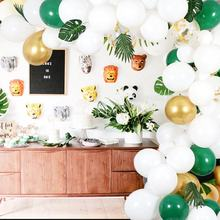 Ourwarm Wedding Birthday Decorations Confetti Latex Balloon Garland Arch Kit With Artificial Palm Leaves For party