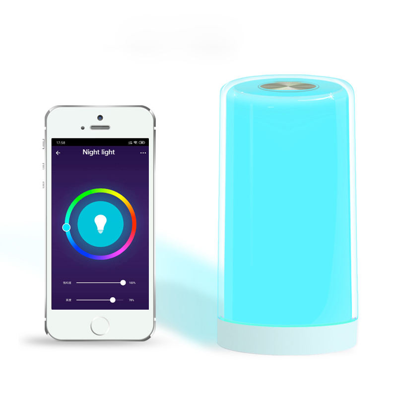 LED Touch Sensor Dimmable RGB Color Changing APP Controlled Smart WIFI Beside Night Lamp