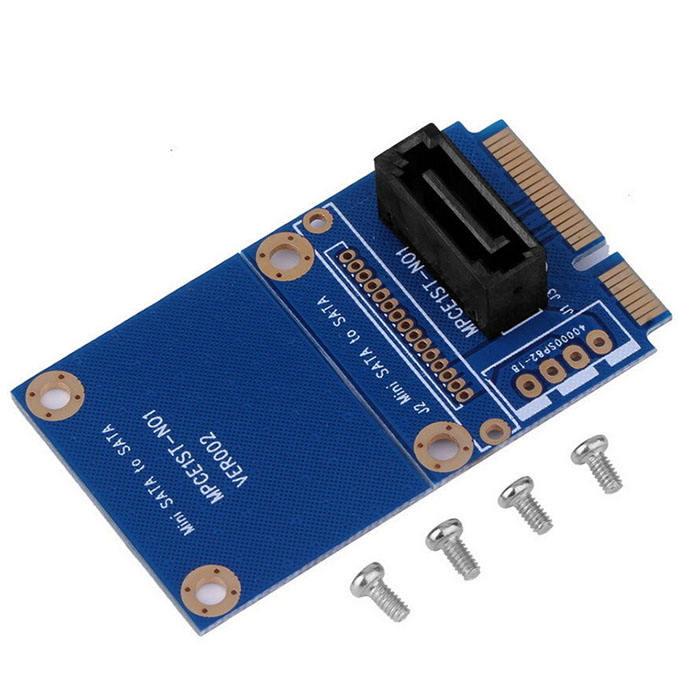 サポート OEM ODM mSATA ミニ PCI-E SATA SSD スロットに 7 ピン SATA HDD 変換カードアダプタ