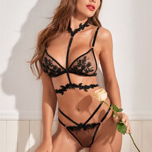 Women Black Lingerie Transparent Bra And Panty Set Ladies Hot Erotic Sexy Underwear Sexy Lingerie