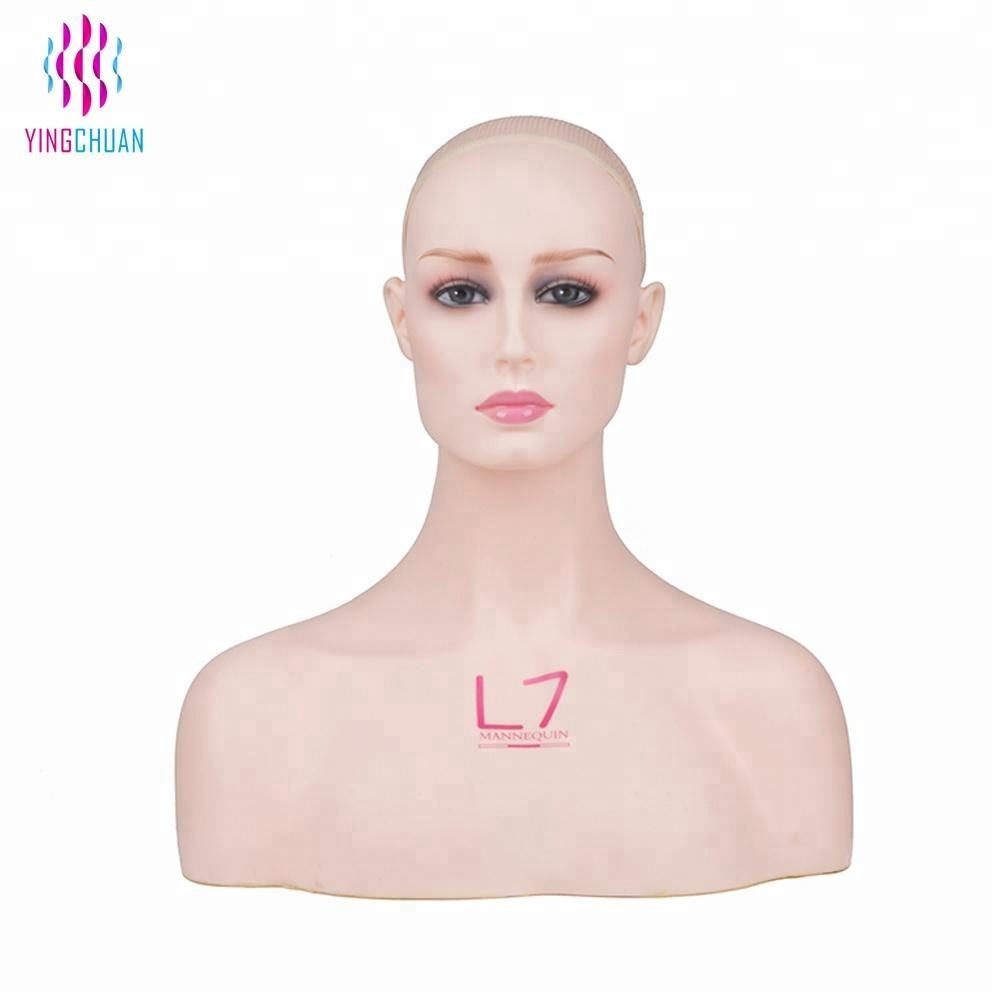 Hot sale wig display mannequin head for sale