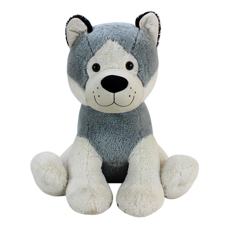 Lindo Husky de peluche animales de peluche perro de juguete de felpa forma libre cambio suave del bebé de peluche