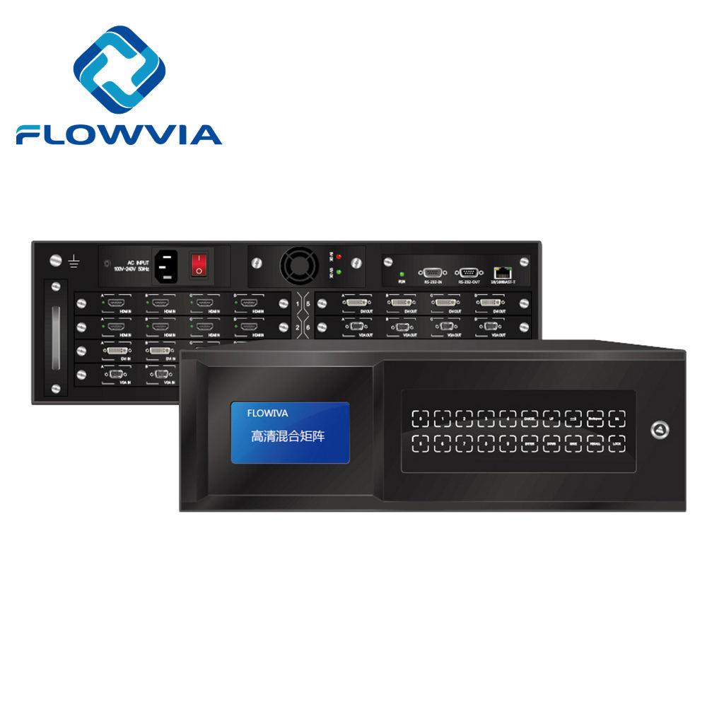 محول مصفوفة الفيديو غير الملحوم 4x4 8x8 12x12 16x16 32X32 64X64 <span class=keywords><strong>hdcp</strong></span> <span class=keywords><strong>VGA</strong></span> <span class=keywords><strong>HDMI</strong></span> 4k DVI