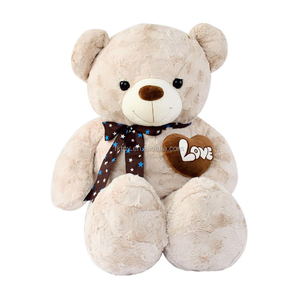 Personalizzato 100 CM/120 CM Teddy Bear Con Cuore Bello Regalo di Festa Valentinnes Per La Ragazza