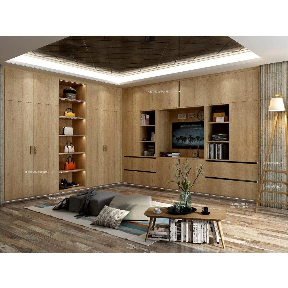 HS-W202 lindo moderno economía montado tabla alquilar dos puertas muebles de esquina en el armario para sala