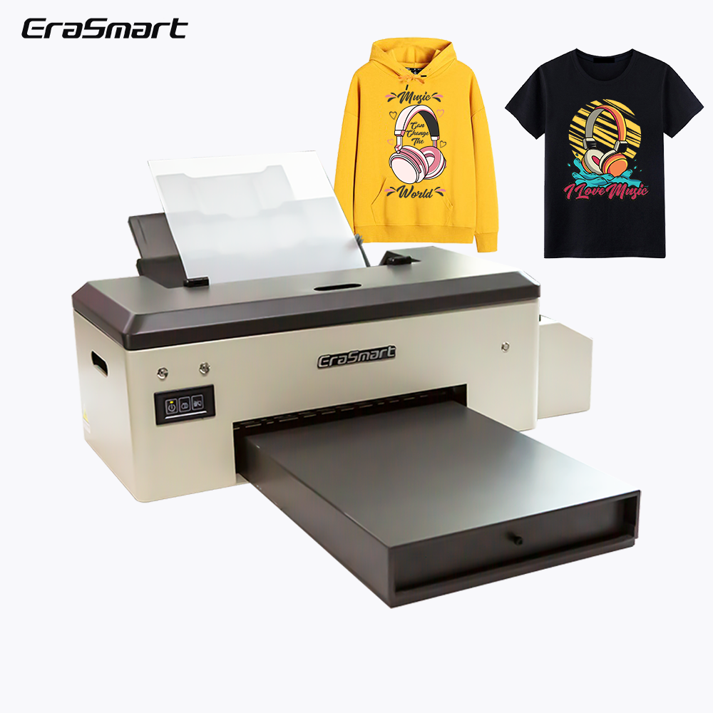 Mesin Printer DTF, Digital Garmen Putih Transfer Tinta A4 A3 PET Film Printer DTF untuk Kaus