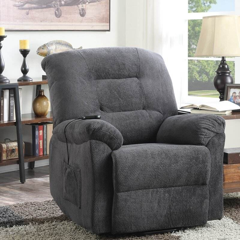 KD Modern living room furniture sitting lying back single sofa chair fabric power lift recliner