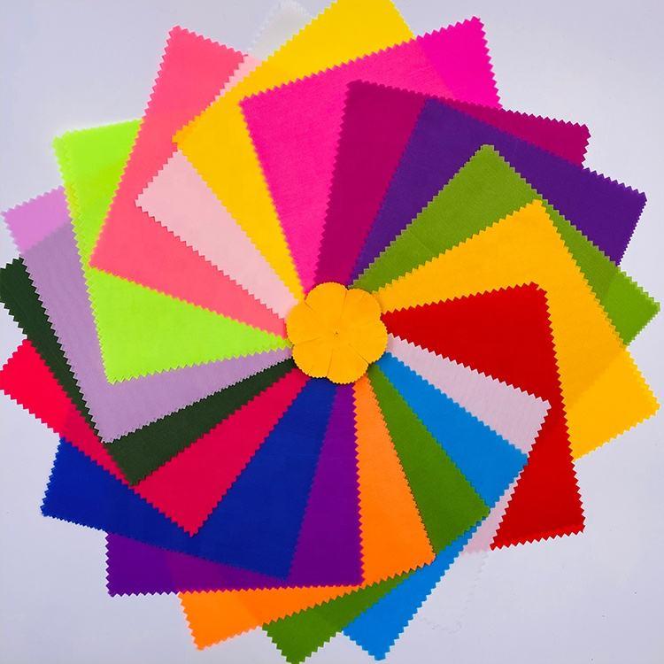 Bán buôn Giá Rẻ Đa Màu Sắc Đồng Bằng Nhuộm 180T Polyester Cứng Taffeta Vải cho Hoa