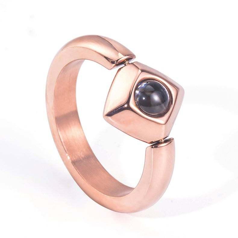 2019 кольца ювелирные изделия я люблю тебя в 100 языках титановая сталь мужчины кольцо поддержка настроить надписи вращающийся Оптовая Продажа Валентина