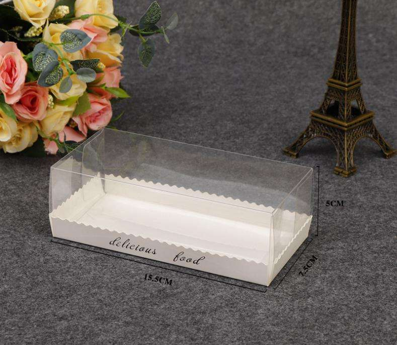 Portable Transparent Clear Swiss Roll Cake Box Baking Packing Boxes Dessert Cookies Boxes