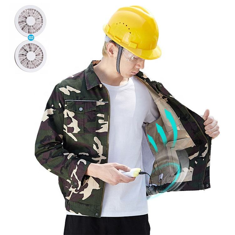 Factory Price Unisex Cotton Sweat Absorbent Fan Cooling Uniform Jacket Air Conditioning Working Clothes With Fans