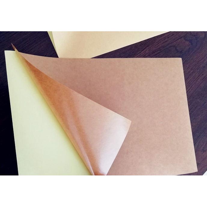 Пустой самоклеящийся крафт-бумага этикетка наклейки рулонов для печати