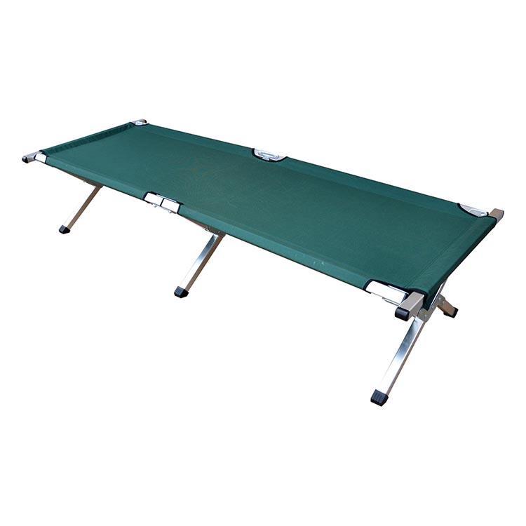 Venta al por mayor de cama Camilla portátil de campo de varios colores, cama plegable de campamento