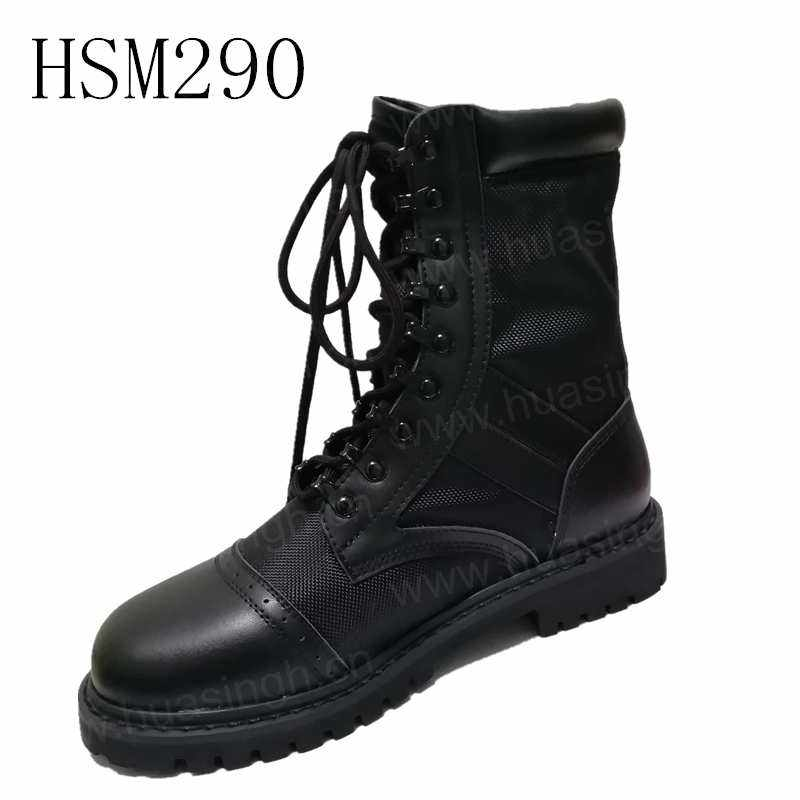 XLY, new double jointed military DMS leather+nylon military boots ranger force combat boots HSM290