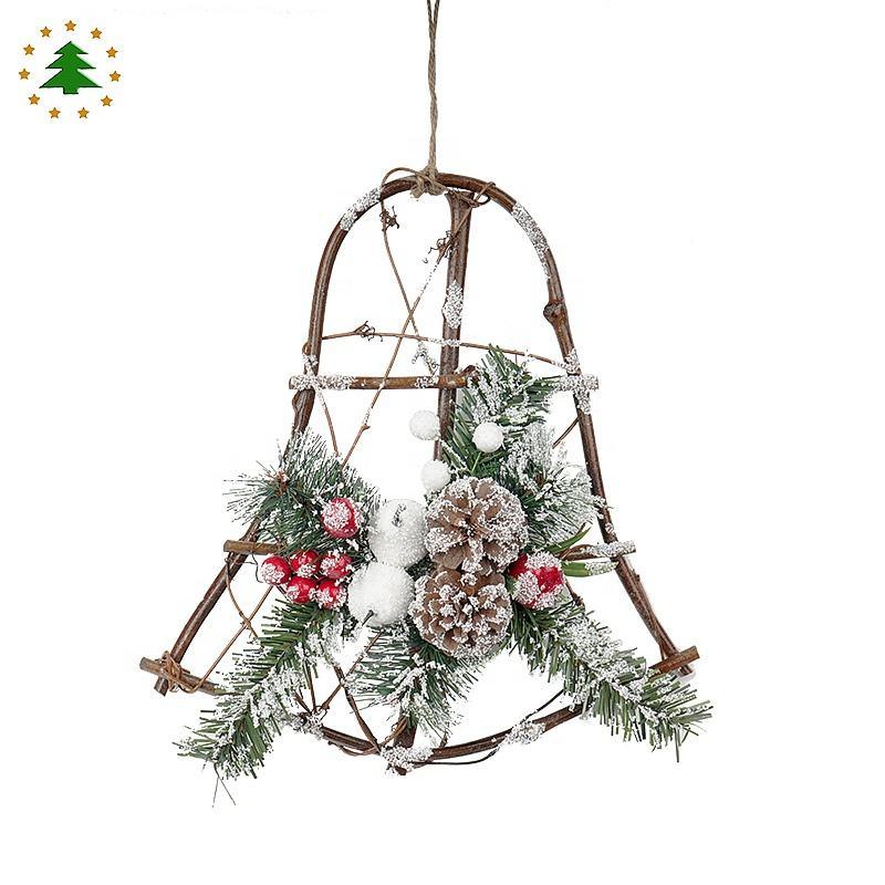 2020 новый дизайн праздничные украшения сосновые шишки специальный Рождественский венок из <span class=keywords><strong>ротанга</strong></span>