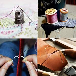 Sewing 2 PCS Wooden Needle Case With Stitching Needles FREE SHIPPING