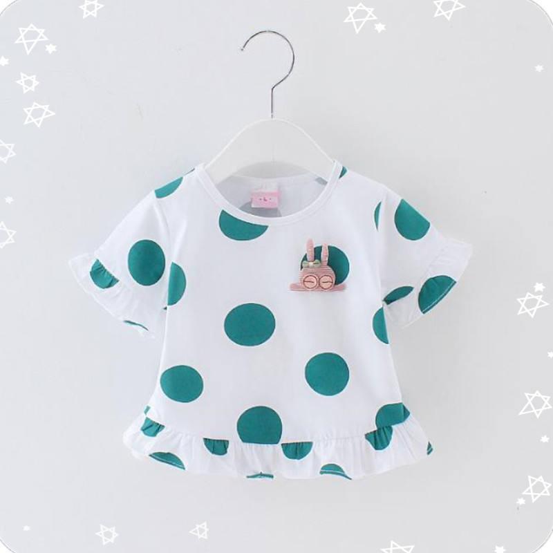 Модная дешевая детская рубашка; милая летняя хлопковая футболка для маленьких девочек