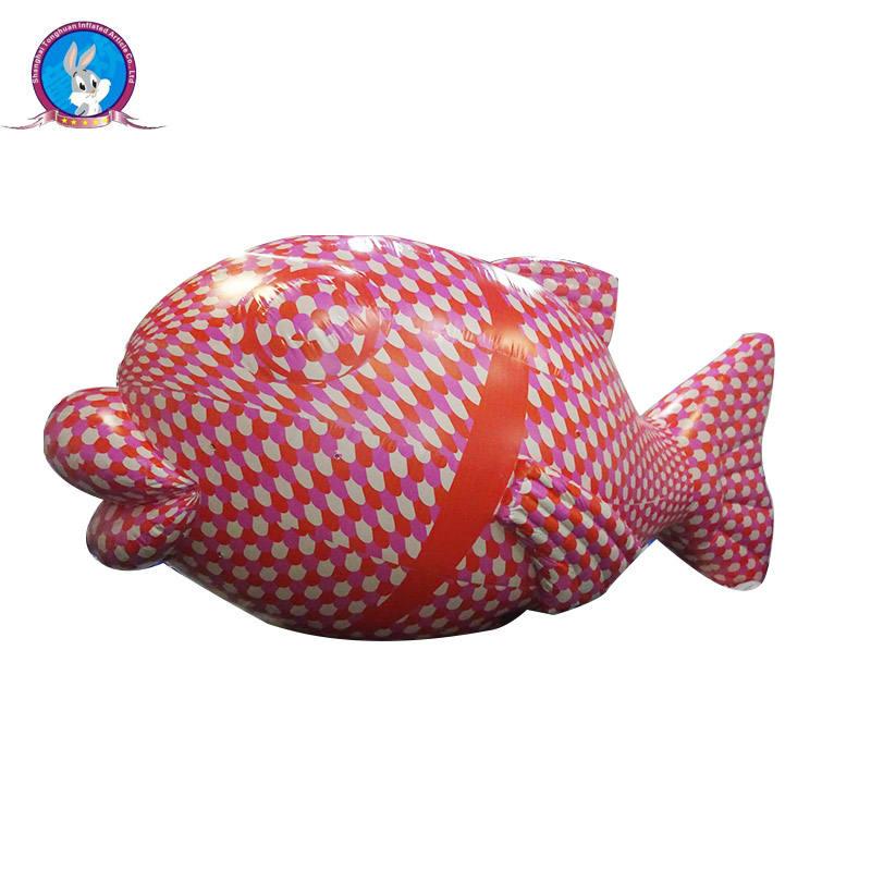 Al aire libre de peces dibujos animados personajes de publicidad inflable de pescado azul