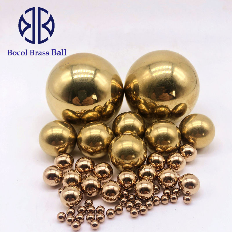 Supply of 0.8mm-50.8mm thread and drill hole solid brass ball