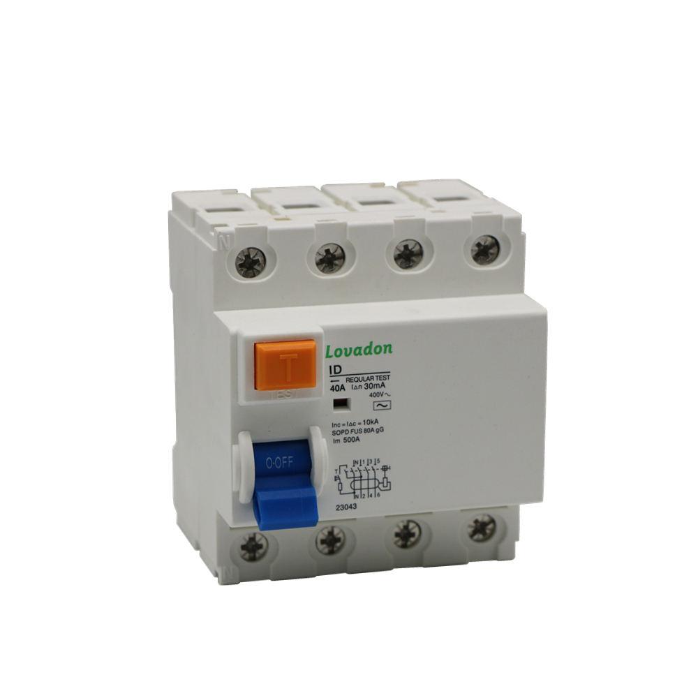 ID Typ air circuit breaker teile 4 Pol Automatische fi-schutzschalter Circuit Breaker Fehlerstromschutzschalter