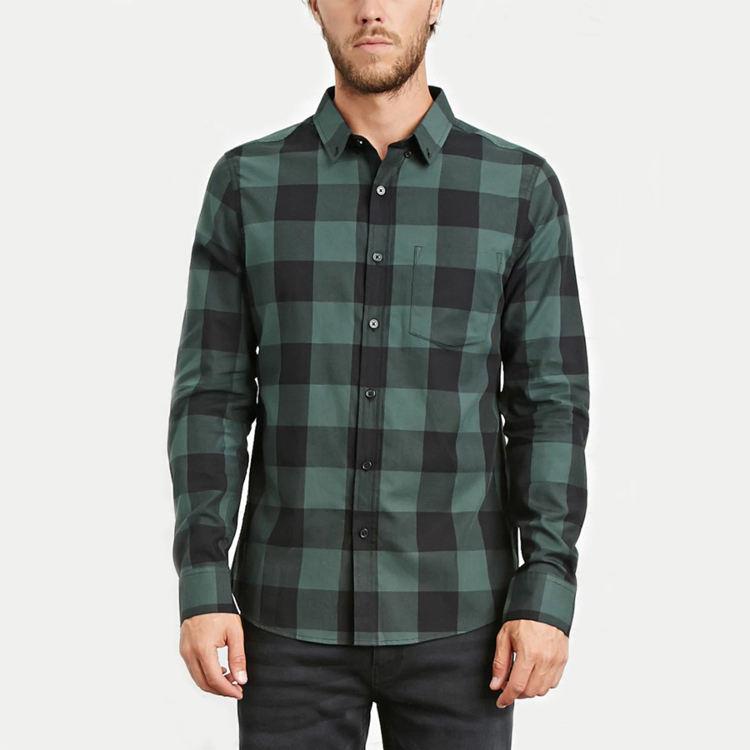 Оптовая Продажа Модные мужские повседневные dri fit с длинным рукавом клетчатая Кнопка фланелевая рубашка