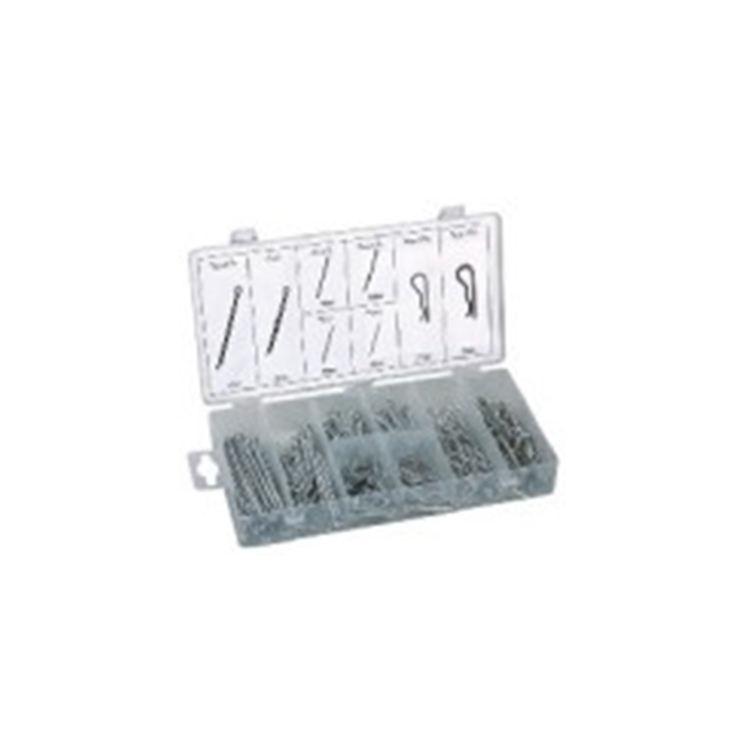 260 Pz/scatola Fornitore Della Cina Filettato Molla In Acciaio Coppiglia R Pins