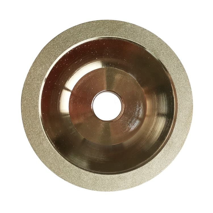 Alta eficiência 4 polegadas 100 milímetros diamond cup rebolos de cbn galvanizados