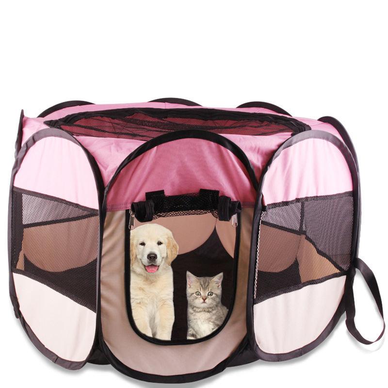 Portátil plegable ejercicio gatito conejo jaula de cachorros perrera al aire libre/uso interior del parque