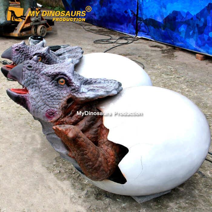 Mein <span class=keywords><strong>Dino</strong></span> A525 Künstliche Animatronic Dinosaurier Triceratops Eier