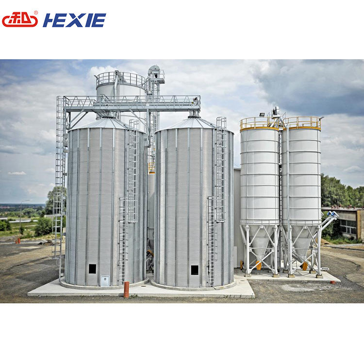 hot galvanized steel grain silo storage silo for paddy storage