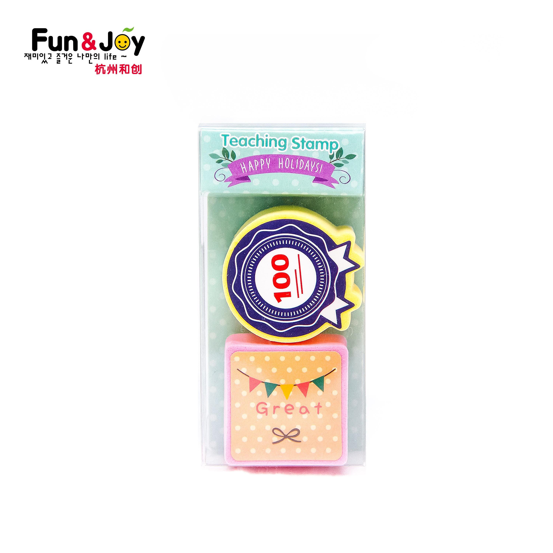Diversión y alegría a los estudiantes de espuma EVA sello educación para bricolaje conjunto de sello de goma