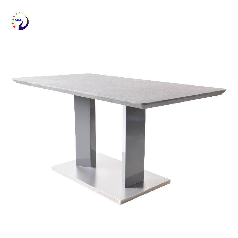 중국 수제 레스토랑 디자인 럭셔리 현대 MDF 식당 가구 탑 테이블