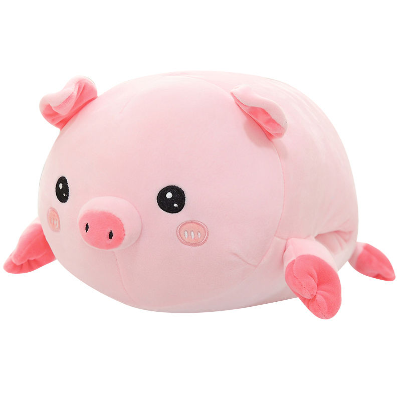 Custom logo pig / panda soft plush filled toys with hand warm pillow down cotton hot selling products OEM