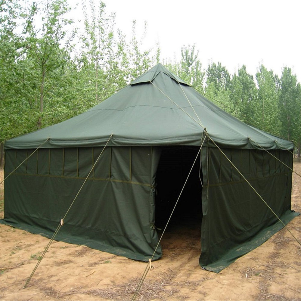 Custom wholesale sale canvas waterproof 10 man army military tent outdoor camping Tent