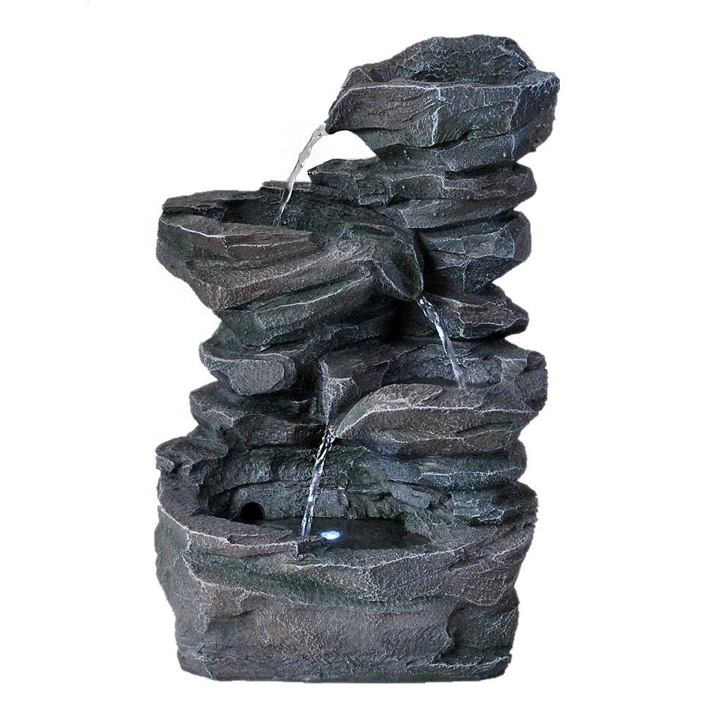 cachoeiras internas da <span class=keywords><strong>fonte</strong></span> de água artificial da resina da resina