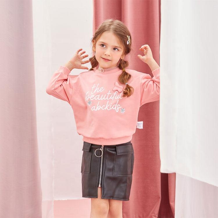 Abckids/новый весенний пуловер с круглым вырезом; Детская куртка с надписью; Толстовка с капюшоном для девочек и мальчиков