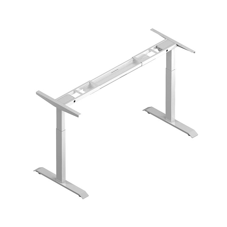 Electric Office Dual Motor Metal Height Adjustable Standing Desk Frame