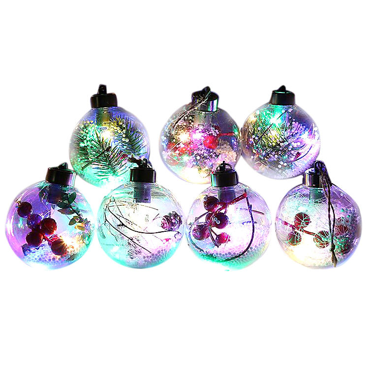 Christmas Transparent Ball Candy Boxes Romantic Design Christmas Decorations Transparent Ball Can Open Plastic Bauble Ornament
