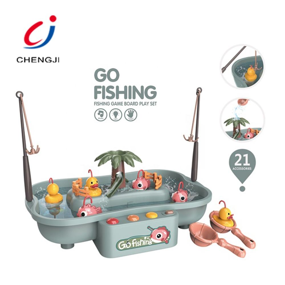 Kids Summer Water Toys Electric Rotating Go Fishing Toy, Battery Operated Children Spin Electric Fishing Toy