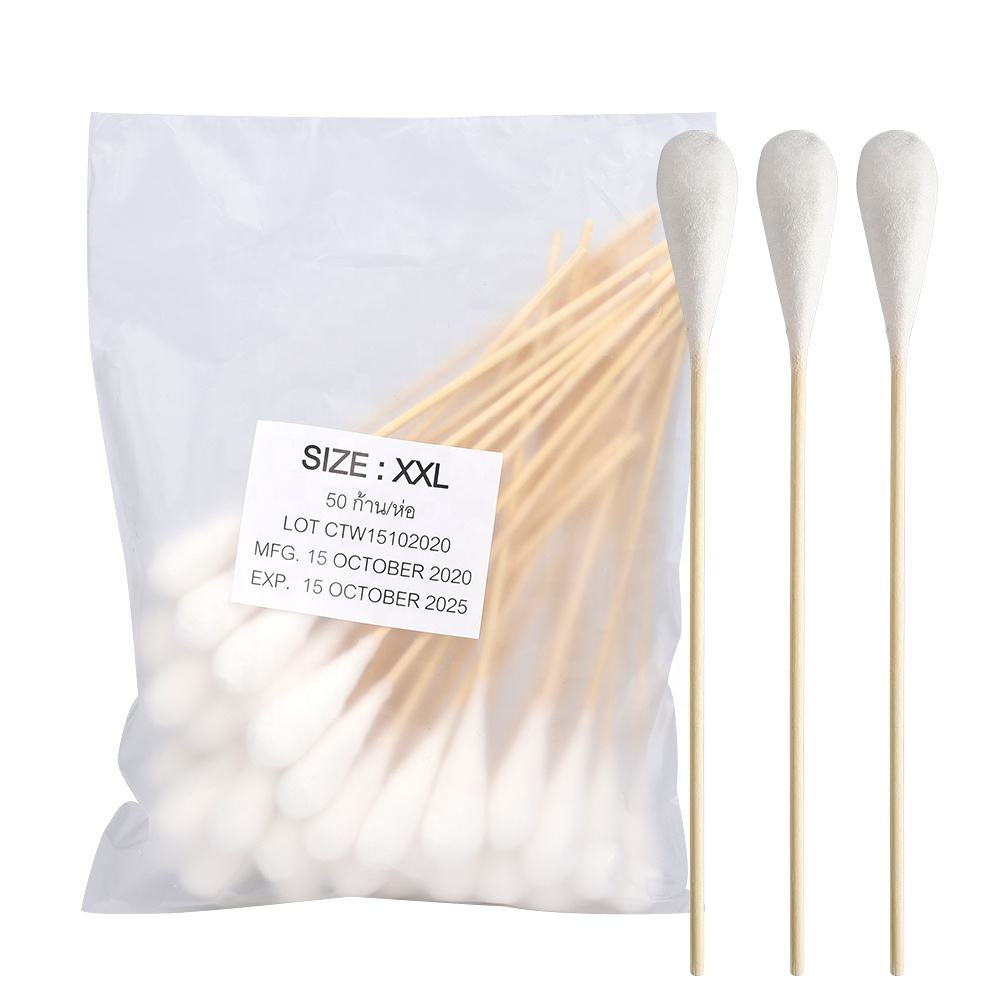 High absorbency bamboo stick big head medical cotton swabs/buds