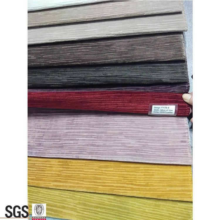 Streifen 100% polyester polster stoff kommerziellen wolle jacquard stoff