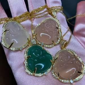 Wholesale With Pave CZ Diamond Zircon Head YHA-066 Jade Pendant