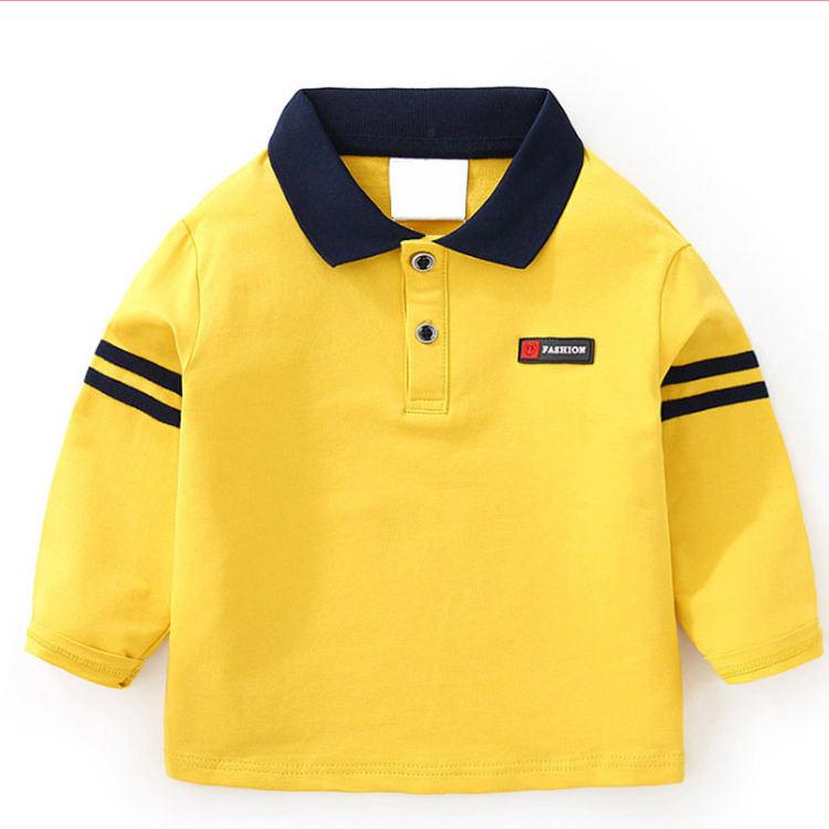 Свободная трикотажная рубашка-поло с короткими рукавами для мальчиков и девочек, 160 грамм