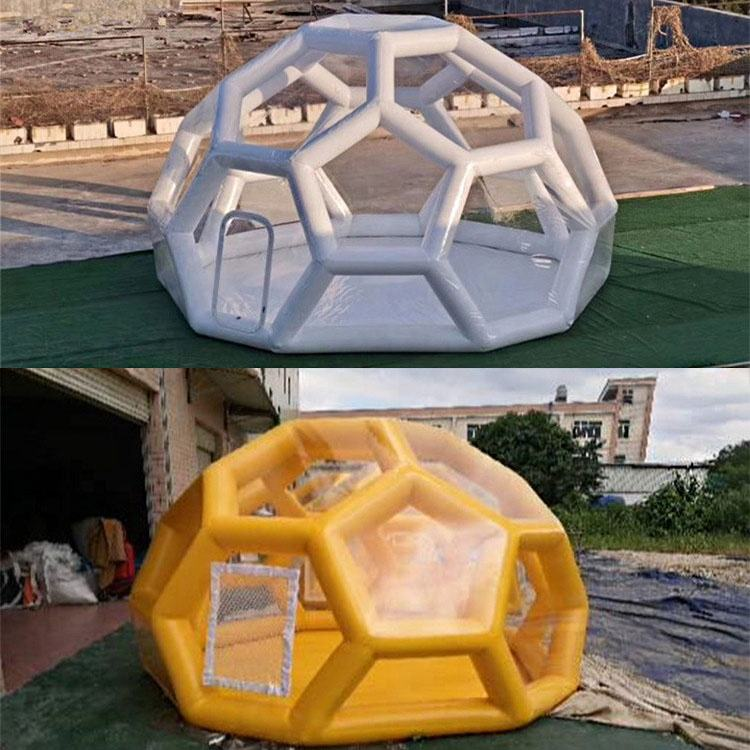 ITFL007 Hiking Hotel Transparent Casa Tents Cheap Inflatable Bubble Tent Geodesic Dome Tents